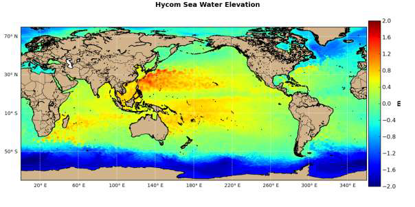 Ocean Floor Elevation Data : Catalogues page ocean and water