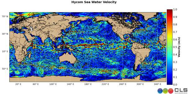 Hycom model Sea water velocity – Ocean and water